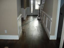 Wainscoting For Living Room Wonderful Solid Brown Stain Walnut Dark Wood Floors For Halley