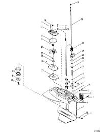 Gear housing driveshaft for mariner mercury 20 h p 25 h p sea pro marathon 25 super 15