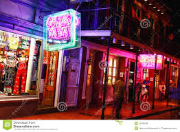 Where Is The Red Light District In New Orleans New Orleans Colorful Bourbon Street Attractions Editorial