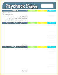 Weekly Monthly Budget Template Bi Weekly Budget Template Designtruck Co