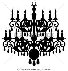 vector chandelier silhouette isolated on the white background full scalable vector graphic included eps v8 and 300 dpi jpg