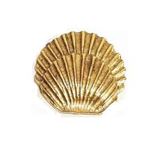 Emenee OR206 Round Sea Shell Cabinet Knob | Low Price Door Knobs