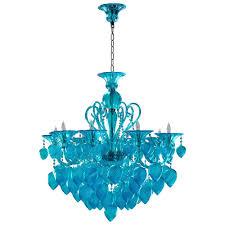 bella vetro light blue aqua murano glass 8 light ornament chandelier kathy kuo home