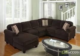 Brown sofa sets Tan Von Furniture Pc Modern Brown Corduroy Sectional Sofa Living Room Set Tbqs727p3
