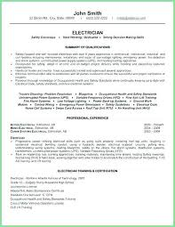 Basic Resume Template Free Amazing Residential Electrician Resume Skills Example Download Sample Best