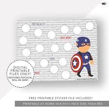 Avengers Potty Chart Reward Chart Captain America Chore Chart Printable Kids Chart Incentive Chart Potty Chart Potty Training Reading Log Reading Chart