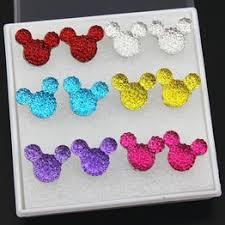 Lovely 6 Pairs Mixed <b>Color Cartoon</b> Resin Crystal <b>Cute Mickey</b> ...