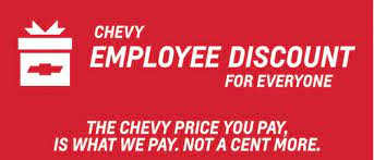 Chevy Employee Pricing For Everyone 2018 Powers Swain Chevrolet