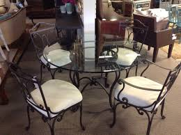 Round glass dining table 80cm Roundglassdiningtableand4chairs87143ajpg Amazoncom Round Glass Dining Table And Chairs Design With Consignment Llc