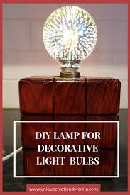 How To Make A Simple Wooden Block Lamp Unique Creations By Anita