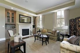 This utterly contemporary living room features a few decorative elements  that add subtle style to the