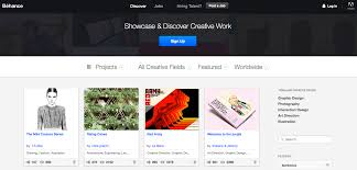 4 websites to get your architecture portfolio online dbi behance screenshot