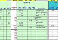 Basic Accounting Worksheet Accounting Worksheet Accounting in Basic ...