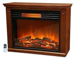 com lifesmart large room infrared quartz fireplace in burnished oak finish w remote home kitchen