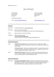 Legal Secretary Resume Skills Sample Professional Experience Law