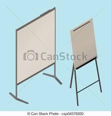 Whiteboard Flip Chart Flip Chart Whiteboard Isometric Vector
