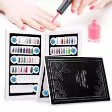 Nail Color Chart 96 Colors False Nail Color Book Display Detachable Nail Art Gel Polish Color Card Nail Color Chart Palette Manicure Tool Black