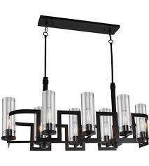 artcraft ac10878jv palazzo vo 8 light 18 inch dark java brown chandelier ceiling light