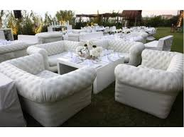 inflatable lounge furniture. White Inflatable Lounges At A Wedding Reception Lounge Furniture I