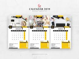 Calender Design Template Free 13 Pages 2019 Calendar Design Templates January February Ma By