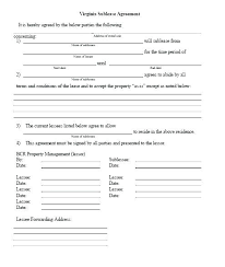Sublease Form Commercial Sublet Lease Agreement Template Sublease Form