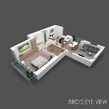 150m2 House Designs 3d Floor Plan With Furniture