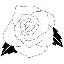 商用フリー無料イラストモノクロのバラの花rose13 商用okフリー