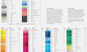 Triggerfingerstitching Blogspot Com Cmyk Color Chart Pdf