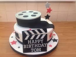 Film reel cake for a tutor of creative media. Everything edible.   Film cake,  Cake, Happy birthday tom