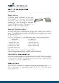 T Type Pod Data Card Manualzz Com
