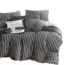cloud gray striped comforter set