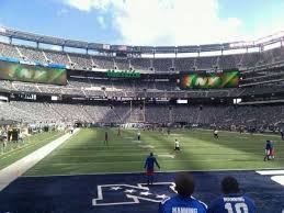 Metlife Stadium Section 104 Home Of New York Jets New