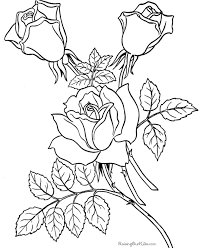 Free Coloring Pages Sheets Of Roses 007 Flower Pic Rose Coloring