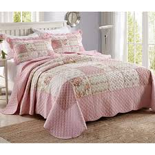 CHAUSUB Patchwork Quilts Washed Cotton Quilt Set 3PCS Bed Sheets ... & CHAUSUB Patchwork Quilts Washed Cotton Quilt Set 3PCS Bed Sheets Quilted  Bedspread Bed Cover Pillowcase Coverlet Adamdwight.com