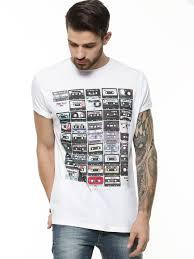 Buy Supremebeing White Cassettes Print T Shirt For Men
