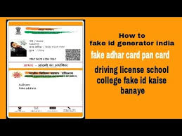 Fake Id Card Maker Online Free India