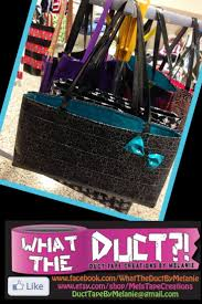 Duct tape purse Www.facebook.com/WhatTheDuctbymelanie