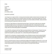 Example Letter Of Recommendation For Graduate School Tripevent Co