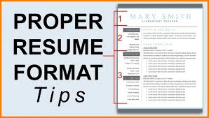 correct format of resumes resume template beautiful resume template correct format for