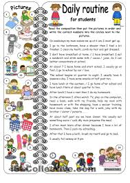 daily routines for students elementary key agrave cedil agrave cedil micro  daily routines for students elementary key