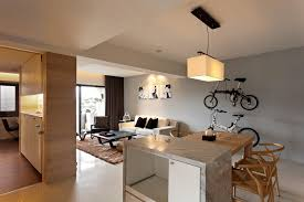 Kitchen:Gorgeous Minimalist Apartment With Kitchen And Living Room Also  Breakfast Bar Gorgeous Small Interior