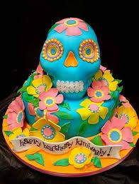 Day Of The Dead Goes Contra Dia De Los Muertos Birthday Cake Walyou
