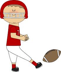 football fan clipart. boy kicking football fan clipart