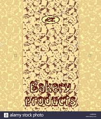 Bakery Menu Or Packaging Template With Sweet Dessert Objects Stock