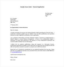 General Cover Letter Format 10 Pleasant Sample 14 13 Templates Free
