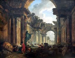 hubert robert imaginary view of the gallery of the louvre as a ruin salon of
