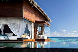 Ocean Bedroom Jumeirah Dhevanafushi Two Bedroom Ocean Sanctuary Sunset With