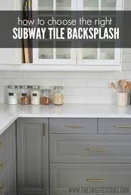 subway tile backsplash in our kitchen