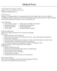 Tour Manager Resume travel and tourism resume Mayotteoccasionsco 76