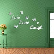 live love laugh wall decals with 1 set home decor live love laugh letters wall stickers acrylic mirror wall art stickers wall live laugh love removable wall